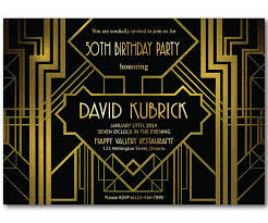 gatsby invitations great gatsby birthday invitation 30th 40th 50th 60th 70th