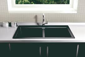 black countertop with black sink modern black kitchen sinks fajah