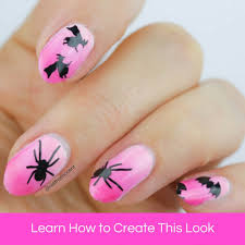 pink halloween nail art tutorial by nail that accent u2013 mitty nail