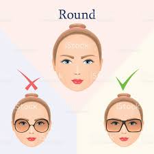 hairstyles glasses round faces glasses for round face stock vector art more images of arts