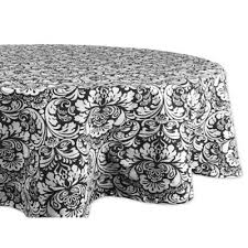 Black And White Table Cloth Buy Tablecloth Damask From Bed Bath U0026 Beyond