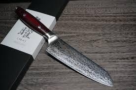 Tamahagane Kitchen Knives Yaxell Yo U 101 Layers Sg2 Damascus Santoku Knife 165mm Hocho Knife