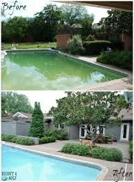hunt host home tour swimming pool pool house back yard back yard before and after pool