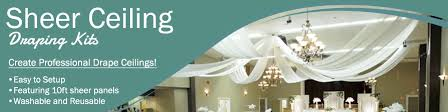 How To Hang Ceiling Drapes For Events Banner Sheerceilingdrapingkits Jpg