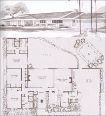 Home Plans With Courtyards Lovely Mid Century Modern Rancher House Plan With Courtyard