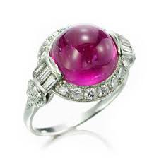 fd gallery an art deco cabochon ruby and diamond ring