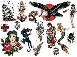 sailor jerry traditional tattoo designs sheet