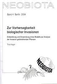 Kleiner B Otisch Zur Vorhersagbarkeit Biologischer Invasionen Entwicklung Und