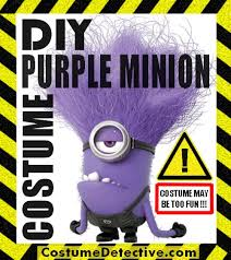 diy purple minion costume a k a the evil minion