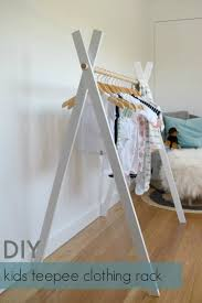 diy kids teepee clothing rack kids clothing display and clothes