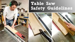 can you use a table saw as a jointer table saw safety guide sawinery