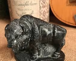 Alabaster Stone Carved Bull Home by Hand Carved Figurine Etsy