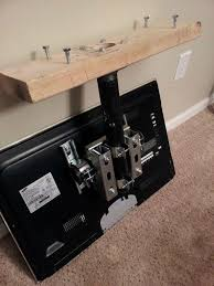 build a simple flat screen tv ceiling mount from unistrut