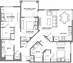 baker block sobeca apartments for rent floor plans