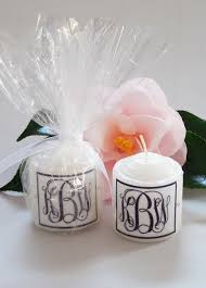 candle wedding favors monogram swarovski candle wedding favors 2 designs