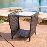 Wicker Accent Table Amazon Com La Z Boy Outdoor Resin Wicker Patio Furniture Side