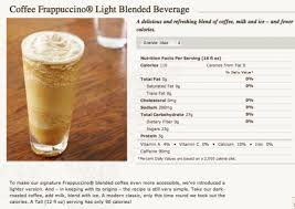 starbucks coffee frappuccino light starbucks low calorie frappucino anorexia discussions forums and
