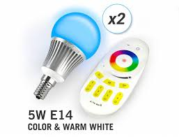 Color Led Light Bulbs by Applamp Set Of 2 Rgbw 5 Watt E14 Led Light Bulbs Remote Control