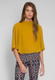 open blouse open back blouse in yellow look stunning seal