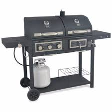 Backyard Grill Walmart by Bbq Grill Dual Gas Charcoal Grill 557 Sq Cooking Cooker Patio