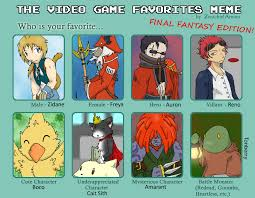 Final Fantasy Memes - video game favorites meme ff by chubby choco on deviantart