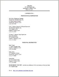 Resume Templates Reference Page Resume Reference Page Template Reference List Template