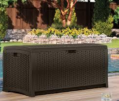 suncast 73 gallon resin deck box u0026 reviews wayfair