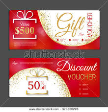 gift cards discount gift voucher template can be use stock vector 578860228