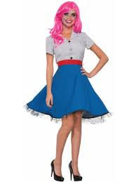 Halloween Waitress Costumes Womens 50s Halloween Costumes Wholesale Prices