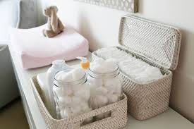 Changing Table Storage Baskets Iheart Organizing Uheart Organizing A Small Space Nursery Diy