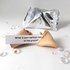 wedding icebreaker fortune cookies by little cupcake boxes
