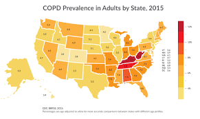 United States Area Code Map by How Serious Is Copd American Lung Association