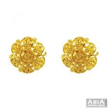 gold earrings tops 22k gold tops ajer55617 22k gold tops earring filigree design