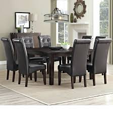 wayfair dining room sets upholstered chairs black chair cushions