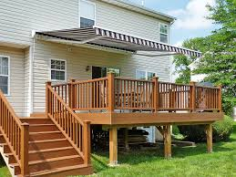 Decorating Decks And Patios Patio Awning For Patio Decoration With Wooden Pattern Deck And