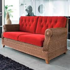 divanetto vimini divano classico in vimini 3 posti rosso royal