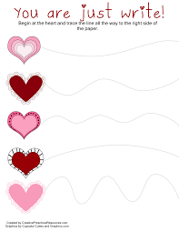valentine trace u0026 cut printables valentines day valentines and