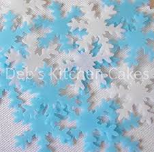 Christmas Cake Decorations Snowflakes by Snowflake Cake Decorations By Deb U0027s Kitchen Cakes 40 X Edible