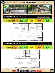 brookdale 2277 wisconsin homes inc modular cottage home plan price