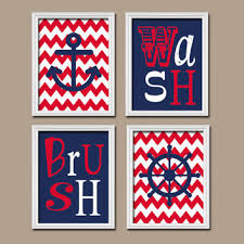 Navy And Red Shower Curtain Shop Nautical Anchor Shower Curtains On Wanelo