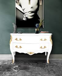 Commode Baroque Rouge by