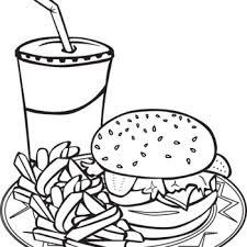 coloring pages food hotdog burger noodles gianfreda net