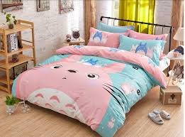 Korean Comforter Korean Bedding Set Kids Cartoon Bed Set Bear Cotton Bed Sheets