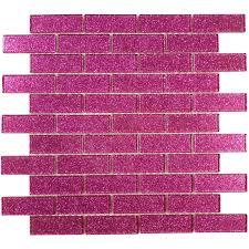 1 u0027 u0027 x 3 u0027 u0027 pink glass uniform brick tile glossy blgd507a