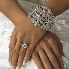 vintage wedding jewelry tiara wedding jewelry ideas vintage rhinestone bridal cuff bracelet