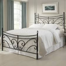 bedroom furniture white wrought iron queen bed king size iron