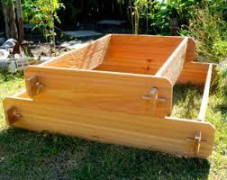 raised garden bed 2 tier cedar raised planters raised beds