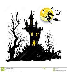 free halloween horror nights moon halloween castle illustration horror night silhouette stock