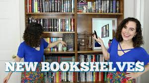 organizing my new bookshelves youtube