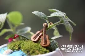 guitar mini ornaments resin crafts gift micro landscape